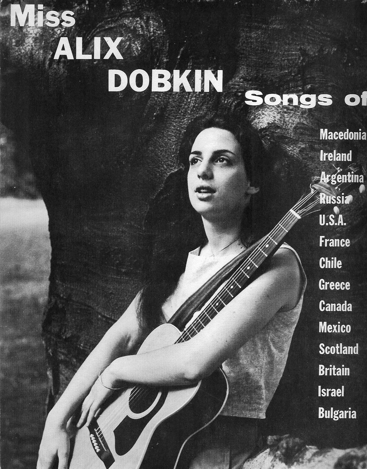 Early Alix Dobkin poster